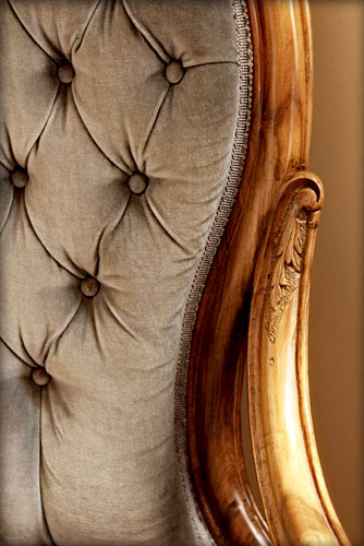 antique chair close up